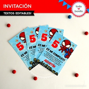 Hombre Araña: invitación para imprimir