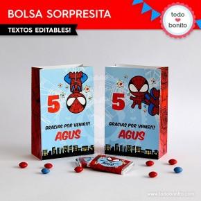 Hombre Araña: bolsa sorpresita para imprimir