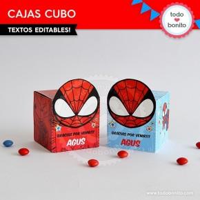 Hombre Araña: cajita cubo para imprimir