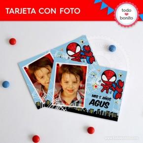 Hombre Araña: tarjeta con foto