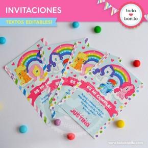 Pony: invitación para imprimir