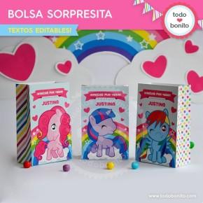 Pony: bolsa sorpresita para imprimir