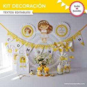 Primera Comunión Margaritas: Kit decoración