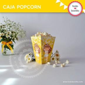 Primera Comunión Margaritas: cajita popcorn