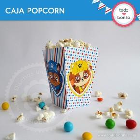 Cachorros: caja popcorn para imprimir