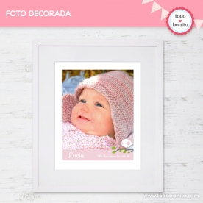 Pajarito rosa: foto decorada