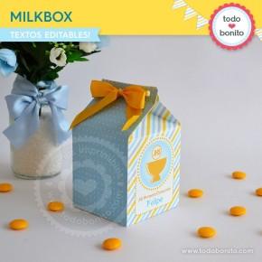 Cáliz amarillo y celeste: milkbox