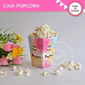 Patines: caja popcorn