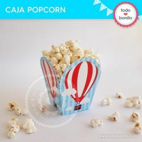 Globos aerostáticos varones: cajita popcorn