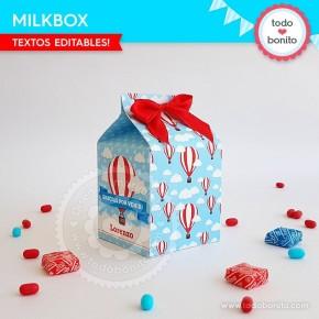 Globos aerostáticos varones: milkbox