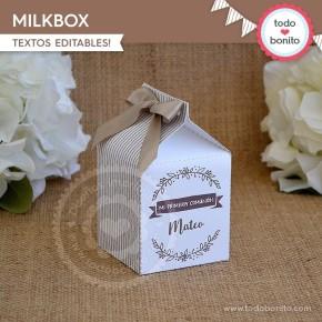 Rústico: milkbox