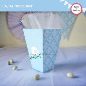 Pajarito celeste: cajita popcorn