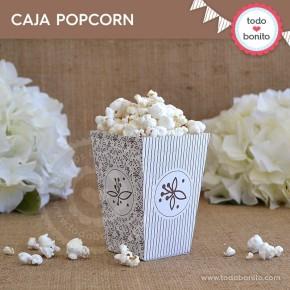 Rústico: cajita popcorn