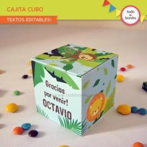 Selva: cajita cubo para imprimir