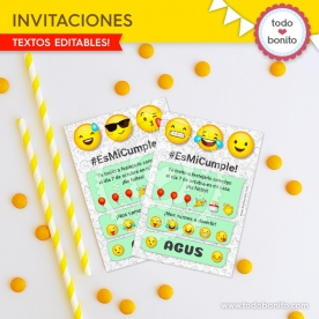 Emojis: tarjeta invitación