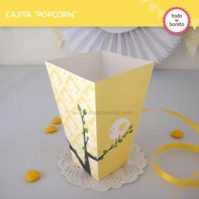 Pajarito amarillo: cajita popcorn