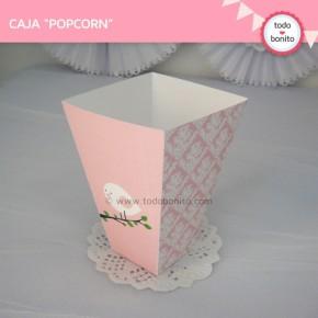 Pajarito rosa: cajita popcorn