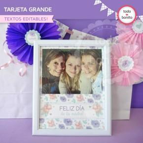 Día de la madre: tarjeta grande