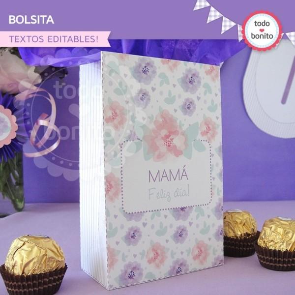 Día de la madre: bolsa regalo para imprimir